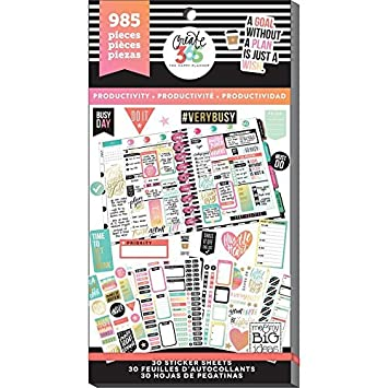 me & my BIG ideas PPSV-09-2048 Create 365 The Happy Planner Sticker Value Pack Planner, Productivity