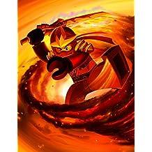 Lego Ninjago Poster Cole Kai Smith/Red Ninja/First Spinjitzu Master Prints Wall Decor Wallpaper (14x18 inch)