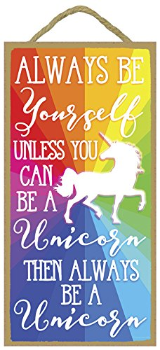 Always Be Yourself Unless You Can Be A Unicorn Then Always Be A Unicorn - 5 x 10 inch Hanging,...  wall art unicorn | DIY Unicorn & Skull | EASY Pastel Goth Tumblr Wall Art | 51qy3G6rjPL