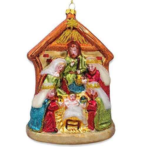 BestPysanky Large Nativity Scene Christmas Ornament 6 -