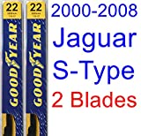 2000-2008 Jaguar S-Type Replacement Wiper Blade Set/Kit (Set of 2 Blades) (Goodyear Wiper Blades-Premium) (2001,2002,2003,2004,2005,2006,2007)