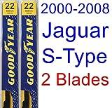 2000-2008 Jaguar S-Type Replacement Wiper Blade Set/Kit (Set of 2 Blades) (Goodyear Wiper Blades-Premium) (2001,2002,2003,2004,2005,2006,2007)
