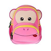 Georgie Porgy Pink Backpack Neoprene Waterproof Lightweight Boy Animal Zoo School Preschool