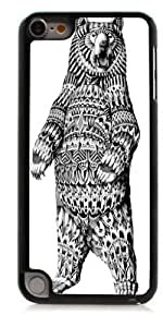 HeartCase Hard Case for Apple itouch 5g 5th Generation ( Sketch Bear Animal Art )