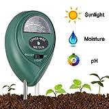 KUAYI Soil Test-3 in 1 Soil Moisture Meter PH Test Soil Tester for Lab Garden Lawns
