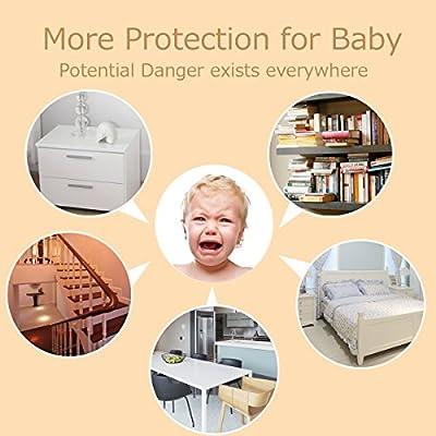 Cunina 6.56ft Baby Safety Bumper Strip Table Corner Protector Guard Edge Corner Cushion Strip Large Size