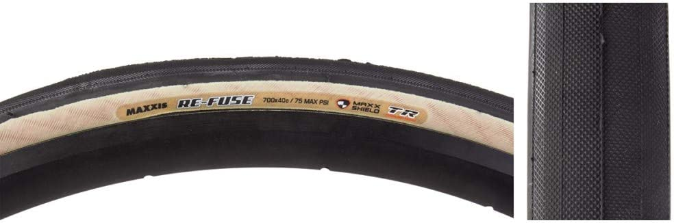Maxxis Re-Fuse 700 x 40c Folding Tubeless Ready 60TPI Tan Wall Bicycle Tire