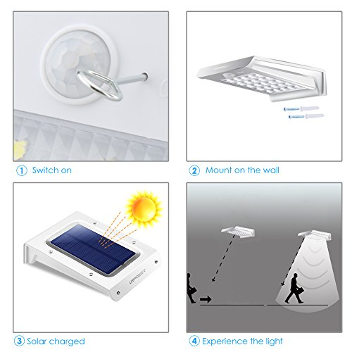 Solar lightsurpower 20 led outdoor solar motion sensor lights solar lightsurpower 20 led outdoor solar motion sensor lights solar powered wireless waterproof exterior security workwithnaturefo