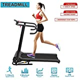 ICOCO Folding Treadmill Motorised Electric Running Machine Incline Fitness Equipment with LCD Display Silent Motor for Home Exercise