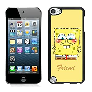 Unique iPod 5 Case,Best Friend SpongeBob Patrick 1 Black Phone Case For iPod Touch 5 Cover Case