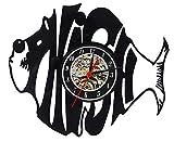 Phish LED Night Light Phish_Best Wall Clock_12″ (30cm) Wall Clock Made of Vinyl Record, Black For Sale