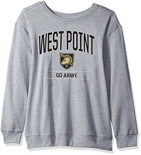 J America NCAA Army Black Knights Womens NCAA Women's Light Weight Oversized Fleece, Medium, Oxford