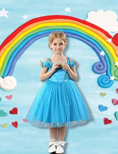 CdHBH 6x8ft Cartoon Rainbow Love Pattern Children Birthday Photo Background Cloth Photo Studio Photo Photography Props Holiday Venue Party Layout Wallpaper Home Decoration