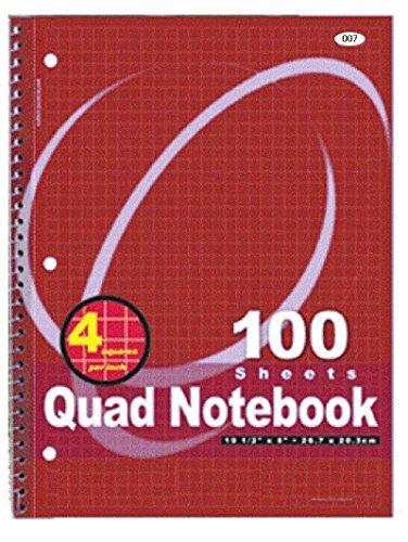 4x4 quad ruled notebook - 3