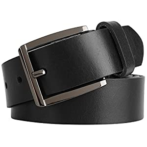 Men's Casual Full Grain Classic Leather Dress Belt For Jeans,1.25″ Wide, USA