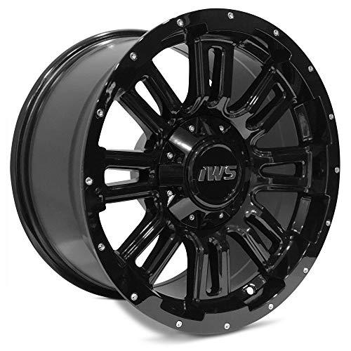 17x9 IWS 5006 Painted Black Wheel 6x135 / 6X139.7 - (-12mm) Offset (17 Inch Chevy Truck Rims)