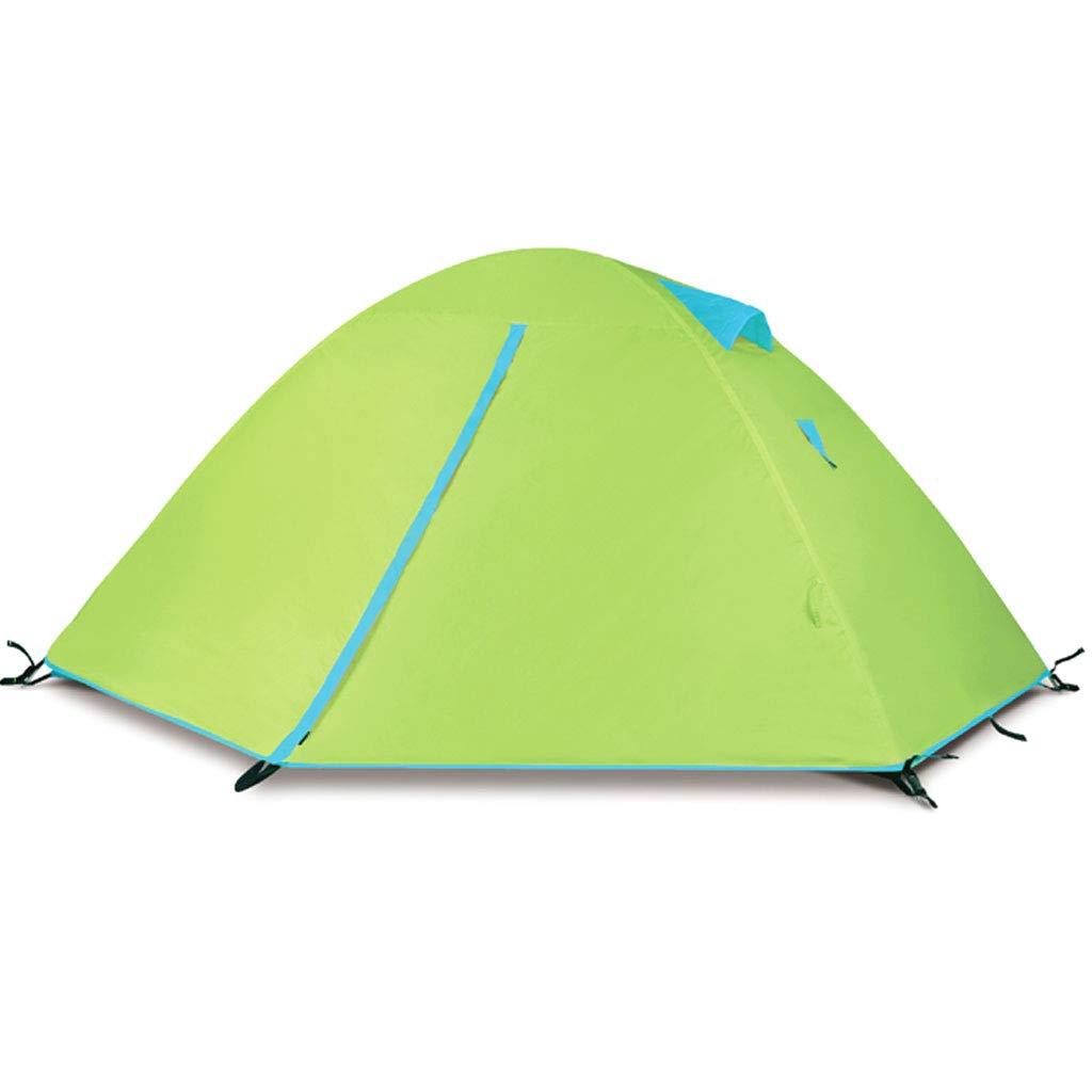 HAOHAOWU Campingzelt, ultraleichte Doppel 4 Personen Campingzelt im Freien Tourismus wasserdicht Anti-Moskito