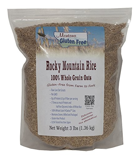 Montana Gluten Free Rocky Mountain Rice Sproutable Oat Groats, 3 Pound