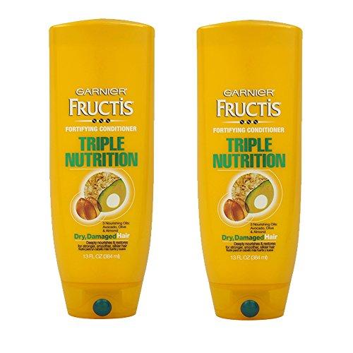 Fructis Nutrition Conditioner Triple (Garnier Fructis Conditioner Triple Nutrition 13 Ounce Dry Hair (384ml) (2 Pack))