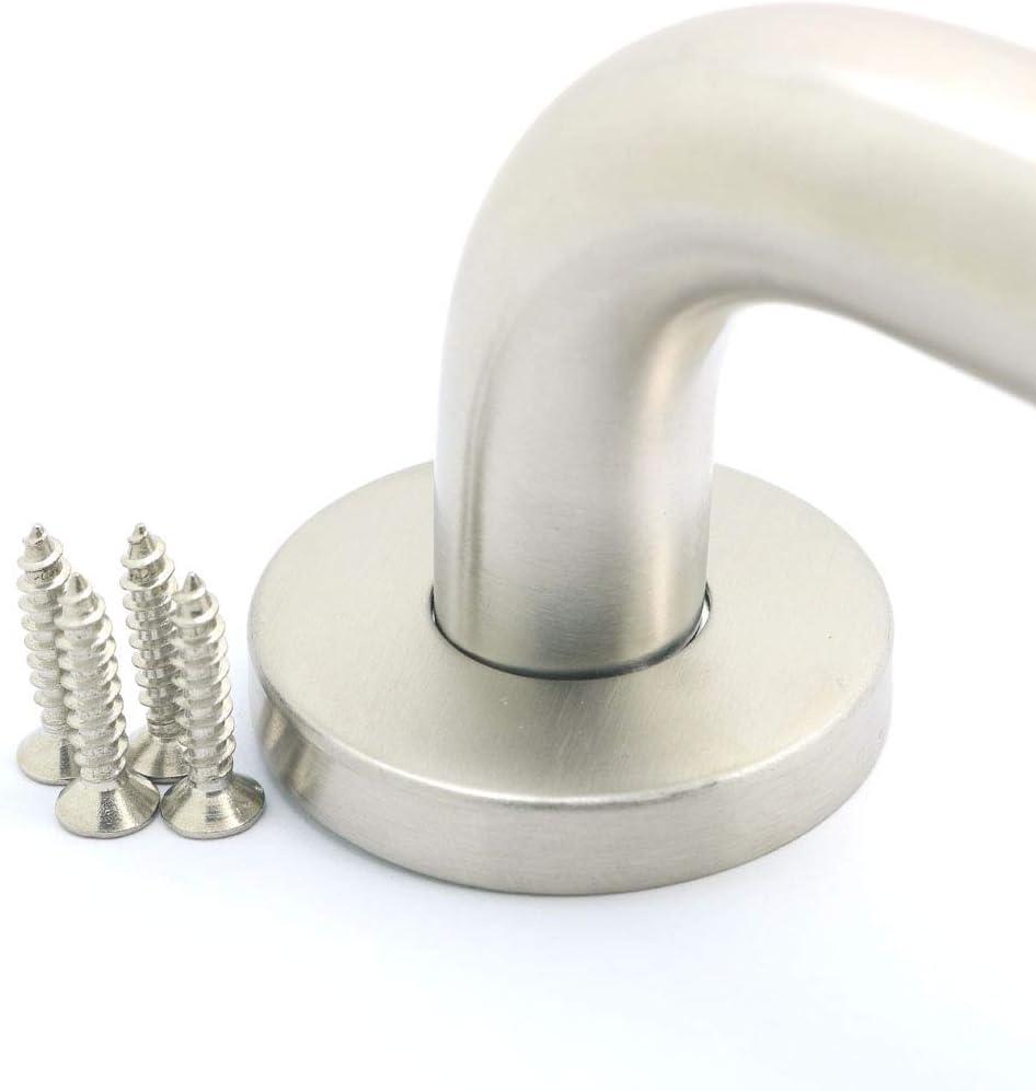 Nuzamas - Tirador de puerta de acero inoxidable 304 (200 mm, mango redondo, 19 mm de diámetro): Amazon.es: Bricolaje y herramientas