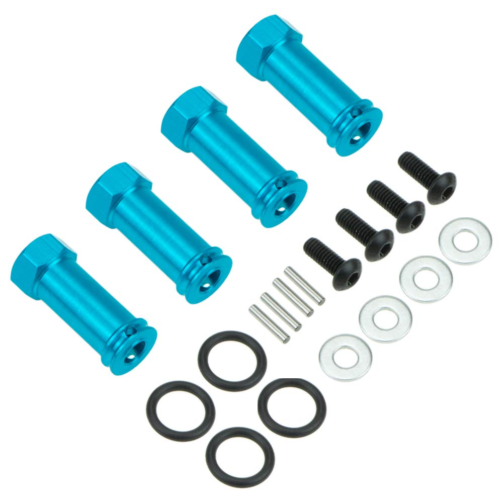 Dark Blue 4pcs M12 12mm Wheel Hex Drive M30 30mm Extension Adapter Alloy Aluminum for 1//10 RC Hobby Car Upgraded Parts Traxxas HSP SCX10