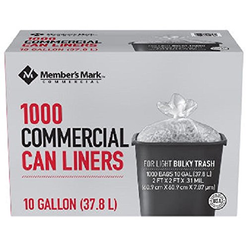 Member's Mark 7-10 Gallon Commercial Trash Bags (1000 ct.) - Trash Bags
