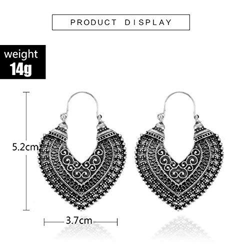 Fashion Women's Boho Ethnic Drop Dangle Vintage Earrings Jewelry Bronze Silver (Antique Silver)