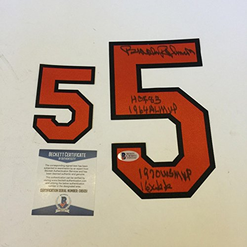 Brooks Robinson Signed Inscribed Baltimore Orioles Jersey Number #5 Beckett ()