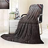 YOYI-HOME Digital Printing Duplex Printed Blanket Rust Steel Metal Texture with Rivets as Steam Punk Summer Quilt Comforter/47 W by 59'' H