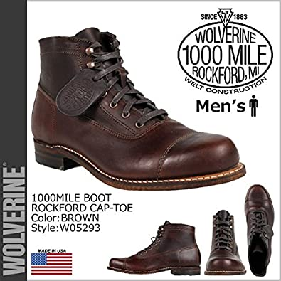 14aa7e42a96 Amazon | (ウルヴァリン)WOLVERINE ブーツ ROCKFORD 1000 MILE CAP-TOE ...