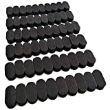 Drone Repair Parts - EUDAX FPV Black Sponge Mat Landing Skid Pad Gear Anti-Vibration Shockproof Foam Sticky Tape for rc multirotor Quadcopter Racing Copter Drone Mini-Quad (60 Pcs)