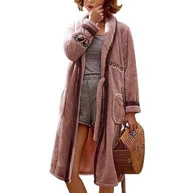 Otoño Invierno Bata De Niña Linda Gruesa Caliente Pijamas Albornoz Largo Hogar Loungewear: Amazon.es: Ropa y accesorios