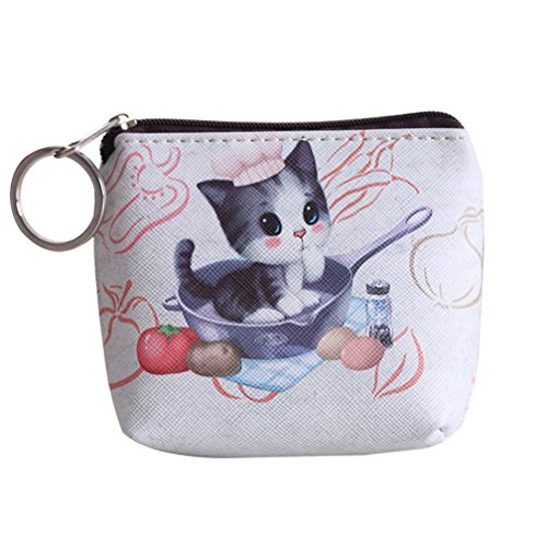 FinancePlan Women's Ladies Coin Purse Lovely Animal Wallet Faux Leather Clutch Short Wallets