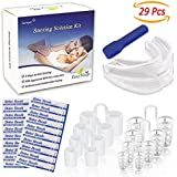 Sumyer Anti Snoring Devices, Snore Stopper Solution- Included 20 Nose Strips, 8 Nasal Dilators (4 Sizes Nose Vents) & 1 Mouthpiece Snoring Aids Guard for Ease Breathing Comfortable Sleeping Relief