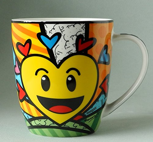 Romero Britto Bone China Mug, Sold Separately (A New Day)