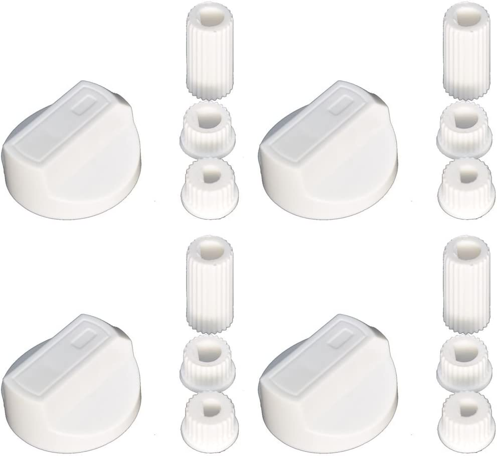 4 X Crosslee Universal Cooker//Oven//Grill Control Knob And Adaptors Black