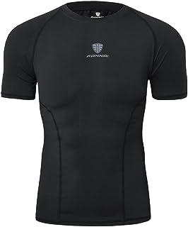 emansmoer Uomo Quick Dry Slim Fit Training Elastico T-Shirts Compressione Running Tee Shirts Ciclismo Base Strato Abbigliamento Sportivo Fitness Tops Costume