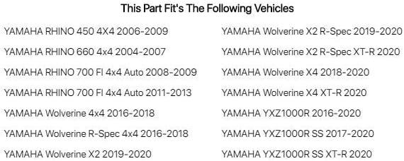 Assault Industries UTV Sun Visors 1.5 for Yamaha RHINO 700 FI 4x4 Auto 2008-2009