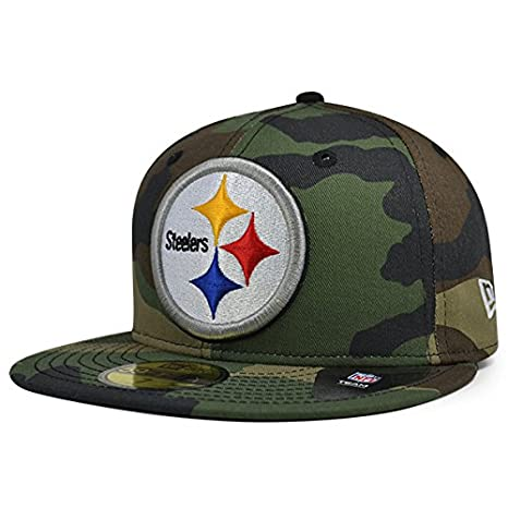 3dc3f86210003 New Era Pittsburgh Steelers NFL Woodland Camo 59Fifty Fitted Hat (7 1 2)