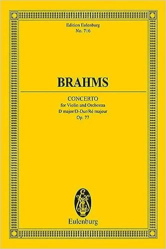 Amazon com: Violin Concerto in D Major, Op  77 (Edition