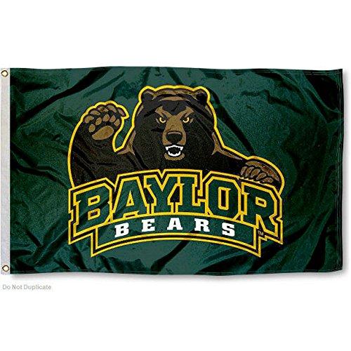 Baylor BU Bears Bear Claw 3x5 College Flag