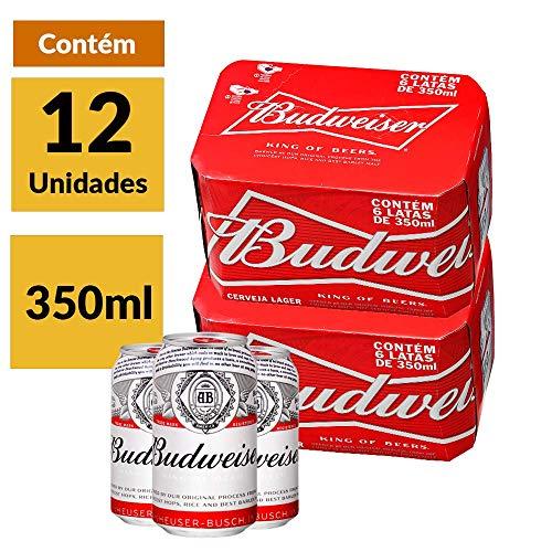 Cerveja Budweiser 350ml caixa Unidades