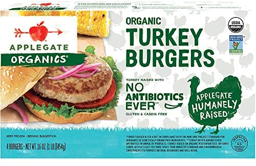 Applegate, Organic Turkey Burgers, 16oz (Frozen)