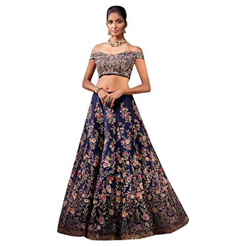 Blue Bapa Ghaghara Nuovo Indiano Dupatta Sposa Designer Ultimo Lehenga Tradizionale Bollywood Emporium Choli Ethnic Chaniya 5qf6RF5
