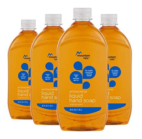 Mountain Falls Antibacterial Liquid Hand Soap Refill Bottle, Original Scent, 40 Fluid Ounce (Pack of 4)