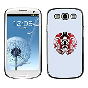 Plastic Shell Protective Case Cover || Samsung Galaxy S3 I9300 || Pattern Minimalist Red Art @XPTECH