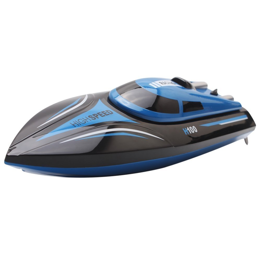 TOYEN Remote Control Boat for Lakes, Pools & Outdoor Adventure, H100 Remote Controlled RC Boats for Kids Or Adults 4CH High Speed Electric RC Boat by TOYEN (Image #3)