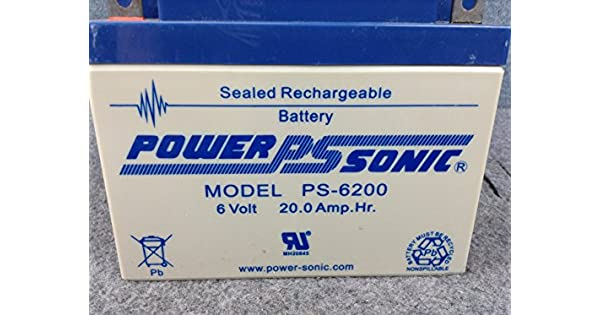 RB6200 6 Volt 20 AmpH SLA Replacement Battery with NB Terminal