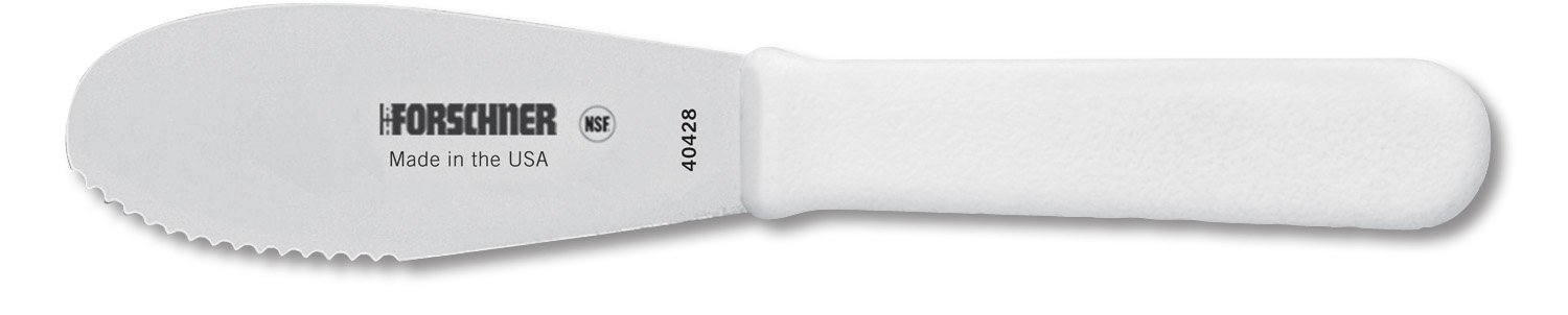 Victorinox Sandwich Spreader 3-1/2-Inch Wavy Edge Blade, White Poly Handle