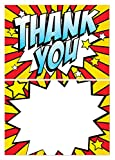 Thank you cards - Retro/Popart Design - 24 x A6 cards - suitable for any celebration! (With Envelopes)